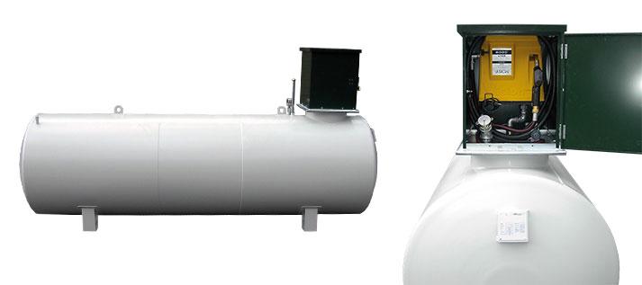 Liegender kraftstoffbehälter als Eigenbedarfstankstelle bis 5000 Liter